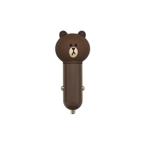 Автомобільний зарядний пристрій USB, Line Friends – Brown