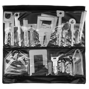 Aftermarket and OEM Head Unit Removal Tool Kit (Stainless Steel, 38 pcs.)