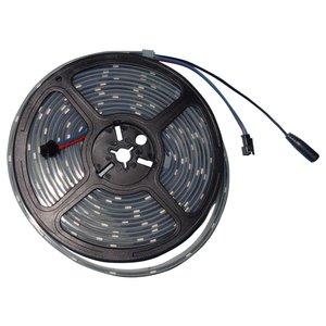 Светодиодная лента RGB SMD5050, WS2813 (черная, с управлением, IP67, 5 В, 30 диодов/м, 5 м)