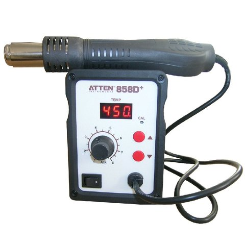 Термоповітряна паяльна станція ATTEN AT858D+