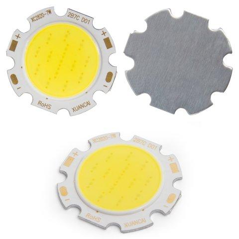 COB LED Chip 7 W cold white, 650 lm, 28 mm, 300 mA, 21 23 V