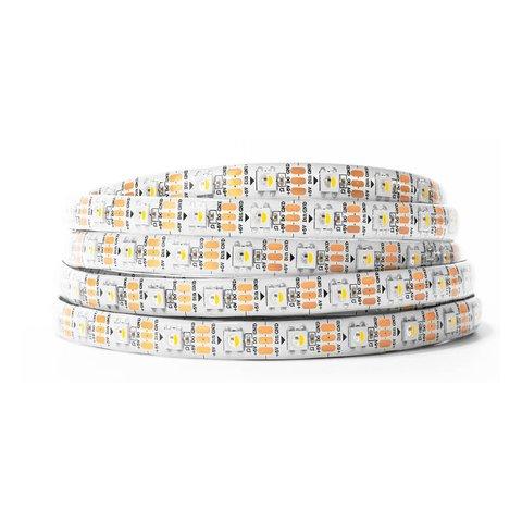 RGBWW LED Strip SMD5050, SK6812 white, with controls, IP65, 5 V, 60 LEDs m, 5 m